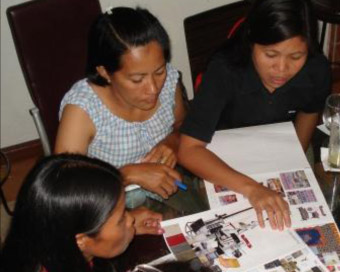 photo of women storyboarding in the philippines