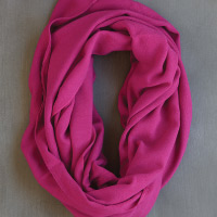 photo of fuschia alpaca scarf