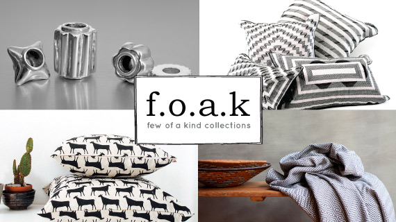 collage of foak products