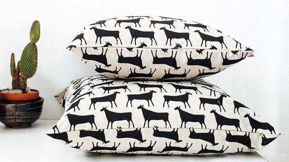photo of herd print cushions