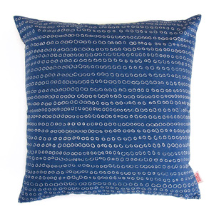 photo of blue cushion