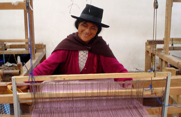 photo of woman weaving