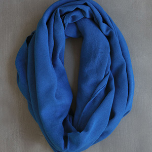 photo of hand-woven blue scarf