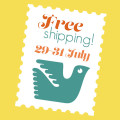 free shipping 29-31 July